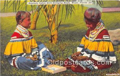 sem000070 - Seminole Indians Postcard