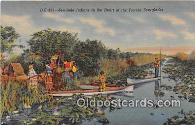 sem000074 - Seminole Indians Postcard