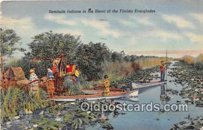 sem000114 - Seminole Indians Postcard