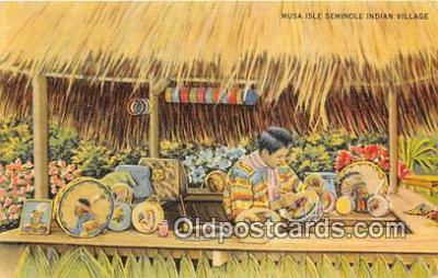 sem000122 - Seminole Indians Postcard