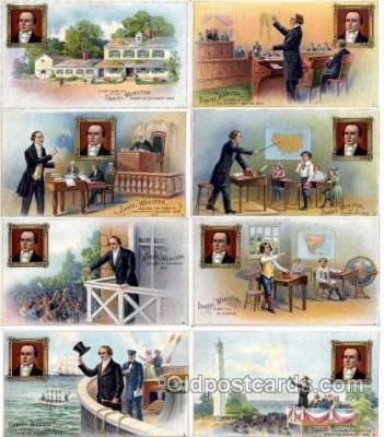 set001 - Daniel Webster Cigar Set of 8 Postcards