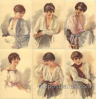 set071 - Terzi Set of 6 postcards series 323