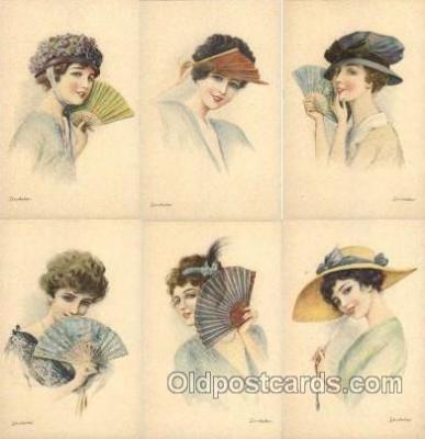 set082 - Melasso Serie 125, 6 card set Postcard Postcards