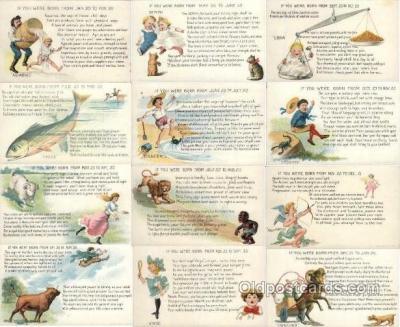 set121 - Astrology set of 12 postcards