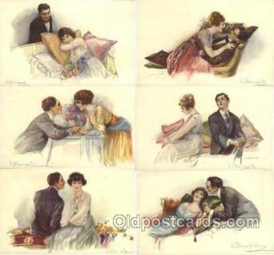 set175 - Artist Bompard set of 6 postcards series 947