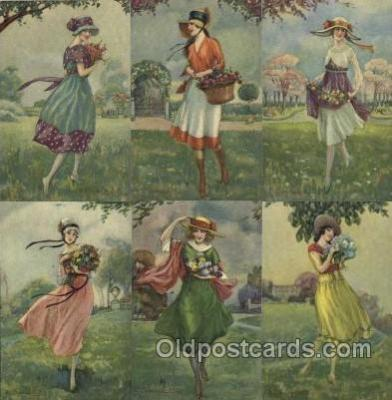 set176 - Artist Bompard set of 6 postcards series 945