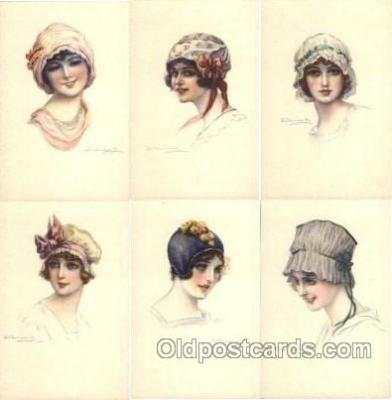 set180 - Artist Bompard set of 6 postcards series 914