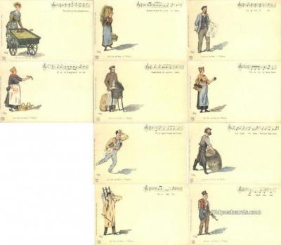 set204 - G. Vare Postcards 10 Card Set Old Vintage Antique