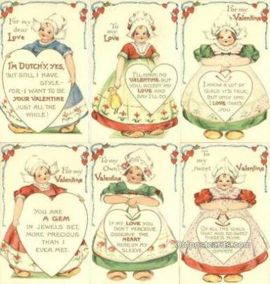 set226 - Ernest Nister Postcard 6 Card Set seties 3107 Postcard Old Vintage Antique