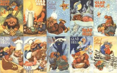 set253 - Geerd Postcards 10 Card Set Series 4234 Postcard Old Vintage Antique