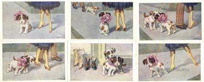 set268 - A. Bertiglia Postcards 6 Card Set Series 2022 Postcard Old Vintage Antique