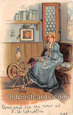 sew001043 - Sewing Postcard