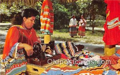Seminole Woman Sewing Garments