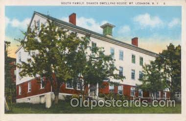 sha001003 - South Family, Shaker Dwelling House, MT. Lebanon, NY, New York Postcard Postcards