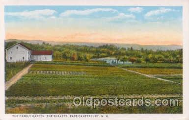 sha001005 - The Family Garden, The Shakers, East Canterbury, NH, New Hampshire Postcard Postcards