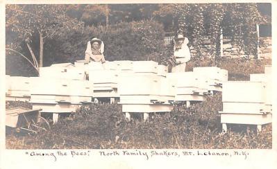 sha050003 - Shaker Postcard Columbia County, NY New Lebanon, New York USA, Old Vintage Antique