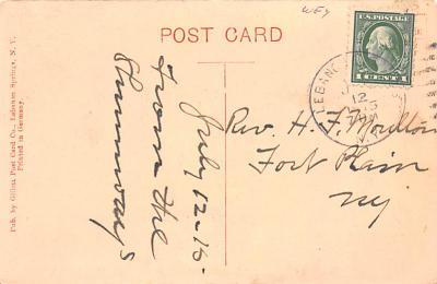sha050025 - Shaker Postcard Columbia County, NY New Lebanon, New York USA, Old Vintage Antique  back