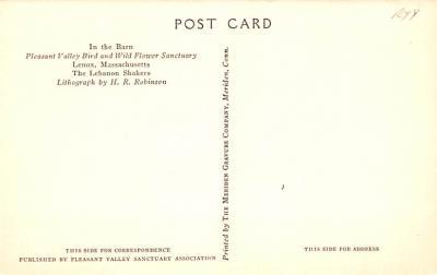 sha050043 - Shaker Postcard Mt. Lebanon, New York USA, Old Vintage Antique  back
