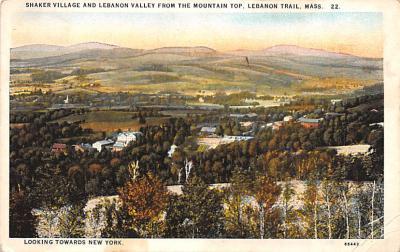 sha050059 - Shaker Columbia County, Postcard Mount Lebanon, New York USA, Old Vintage Antique
