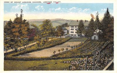 sha050063 - Shaker Columbia County, Postcard Mount Lebanon, New York USA, Old Vintage Antique