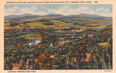 sha050065 - Shaker Columbia County, Postcard Mount Lebanon, New York USA, Old Vintage Antique