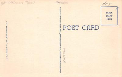 sha050065 - Shaker Columbia County, Postcard Mount Lebanon, New York USA, Old Vintage Antique  back