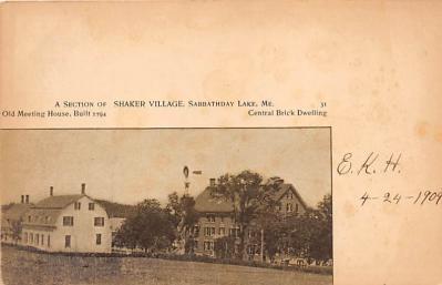 sha400044 - Old Vintage Shaker Post Card