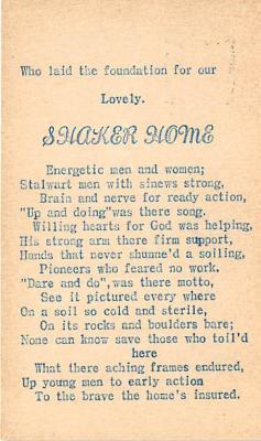 sha400129 - Old Vintage Shaker Post Card