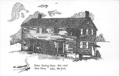 sha600186 - Old Vintage Shaker Post Card