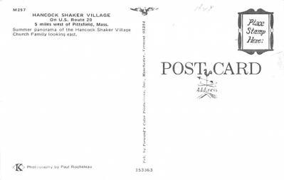 sha700071 - Shaker Postcards Old Vintage Antique Post Cards  back