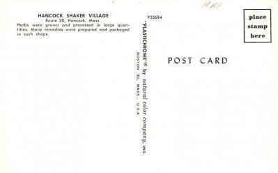 sha700077 - Shaker Postcards Old Vintage Antique Post Cards  back