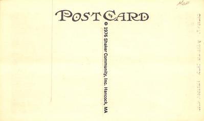 sha700087 - Shaker Postcards Old Vintage Antique Post Cards  back