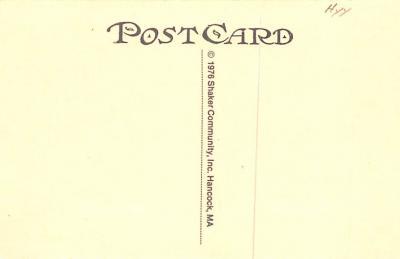 sha700089 - Shaker Postcards Old Vintage Antique Post Cards  back