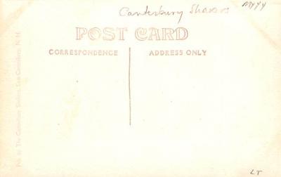 sha700111 - Shaker Postcards Old Vintage Antique Post Cards  back