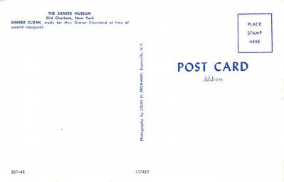 sha700121 - Shaker Postcards Old Vintage Antique Post Cards  back