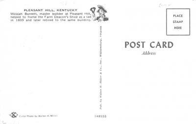 sha700155 - Shaker Postcards Old Vintage Antique Post Cards  back