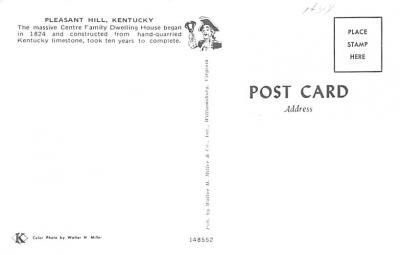 sha700157 - Shaker Postcards Old Vintage Antique Post Cards  back