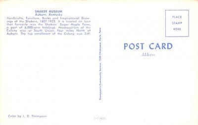 sha700161 - Shaker Postcards Old Vintage Antique Post Cards  back