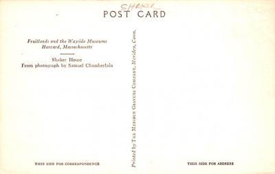 sha700177 - Shaker Postcards Old Vintage Antique Post Cards  back