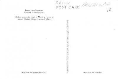 sha700183 - Shaker Postcards Old Vintage Antique Post Cards  back