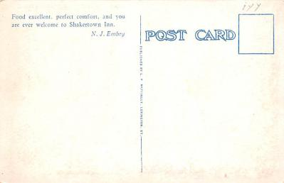 sha700371 - Shaker Postcards Old Vintage Antique Post Cards  back