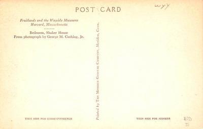 sha700529 - Shaker Postcards Old Vintage Antique Post Cards  back