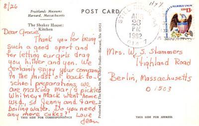 sha700541 - Shaker Postcards Old Vintage Antique Post Cards  back