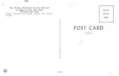 sha700553 - Shaker Postcards Old Vintage Antique Post Cards  back