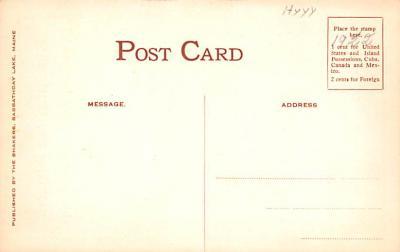 sha700617 - Shaker Postcards Old Vintage Antique Post Cards  back