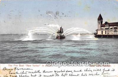 shi000014 - Fire Boat Postcard