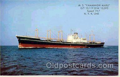 shi001030 - M.S. Yamanashi Maru, NYK Shipping Ship Postcard Postcards