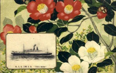 shi001128 - NYK Lines SS Taiyo Maru Ship Postcard Postcards