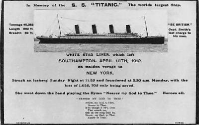 shi002009 - In Memory of the S.S.Titanic Ship Ships Postcard Postcards