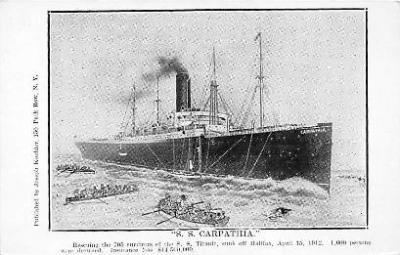 shi002011 - S.S. Carpathia, Ship that rescued the Titanic Ship Ships Postcard Postcards